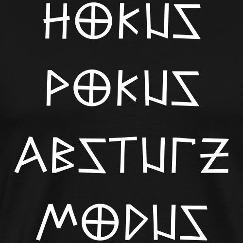 Hokus Pokus Absturz Modus Party feiern Spruch - Männer Premium T-Shirt