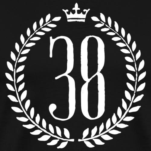 Grenoble isère 38 laurier et couronne royale - T-shirt Premium Homme