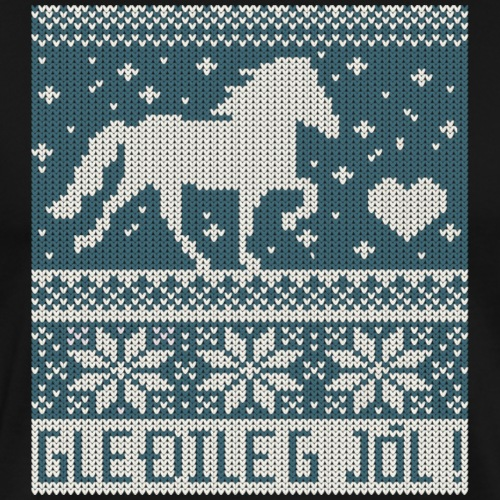 Damen- Christmas Sweater Gleðileg Jól!, blau - Männer Premium T-Shirt