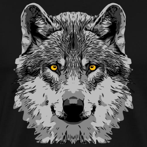 wolf2 1 - Männer Premium T-Shirt