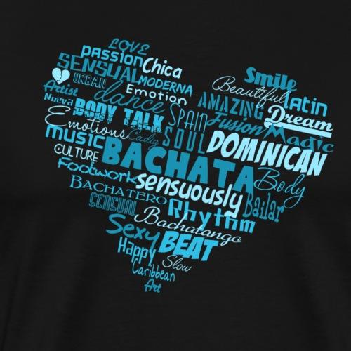 Bachata Heart - blue - Bachata Dance Shirt - Männer Premium T-Shirt