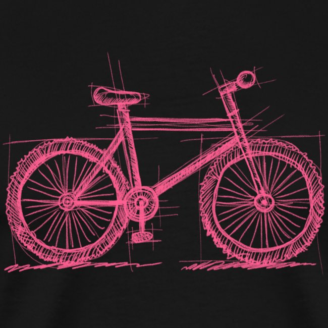 Skizzefahrrad Pink