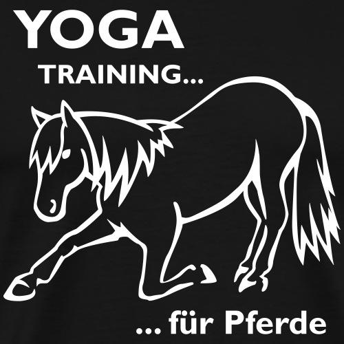 Pferde Yoga - Männer Premium T-Shirt