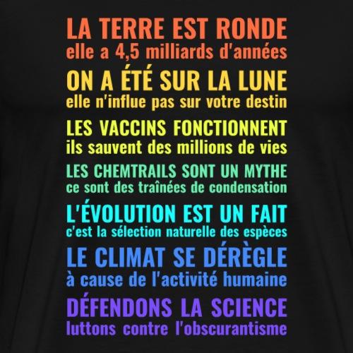 Défendons la science - T-shirt Premium Homme
