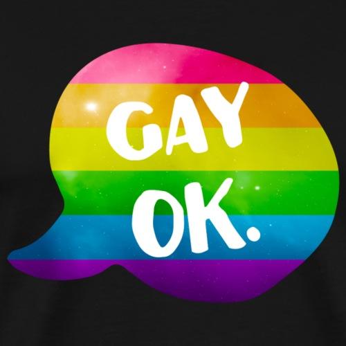 Gay Ok Rainbow LGBT - Men's Premium T-Shirt