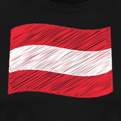Österreichische Flagge - Männer Premium T-Shirt