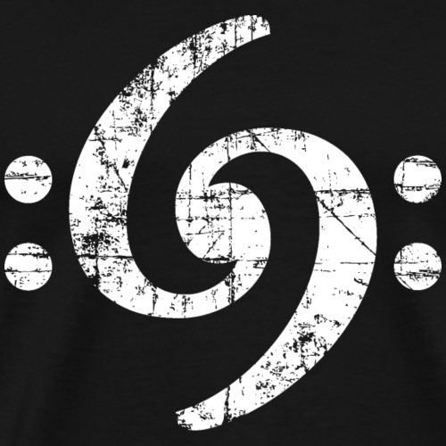 Bass Schlüssel 69 Vintage White - Männer Premium T-Shirt