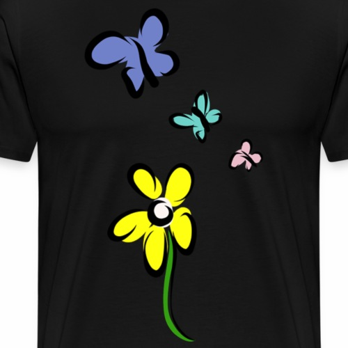 Not just a flower - Mannen Premium T-shirt