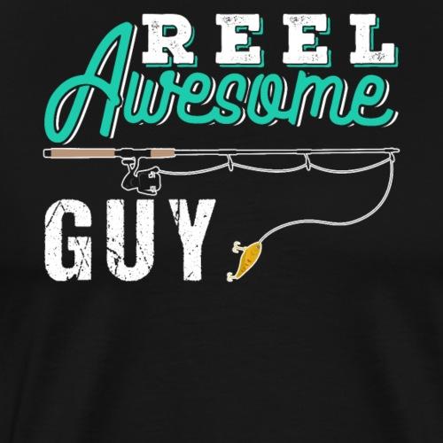 Reel Awesome Guy | Fishing - Männer Premium T-Shirt