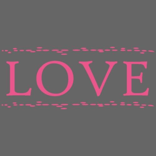 Love color rosa - Camiseta premium hombre