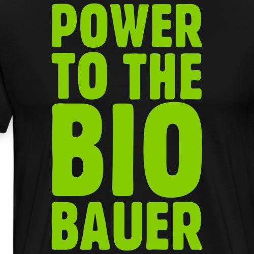 Power to the Biobauer - Männer Premium T-Shirt