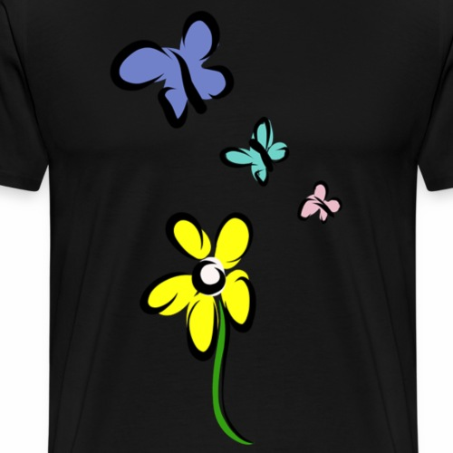 Not just a flower - Mannen Premium T-shirt
