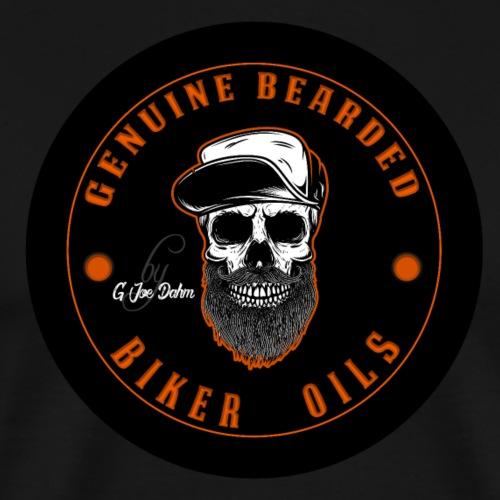 Bearded biker Oils - Joey J II skull Logo - Männer Premium T-Shirt