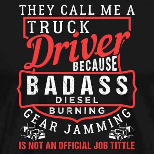 Truck Driver Job Title - Männer Premium T-Shirt