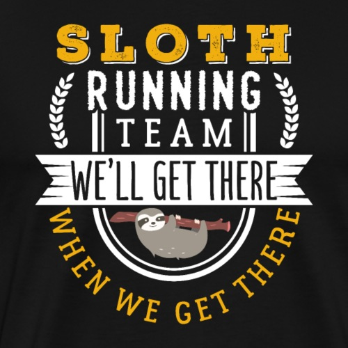 Sloth Running Team - Männer Premium T-Shirt