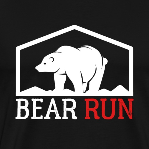 Bear Run Funny Black bear Running - Männer Premium T-Shirt
