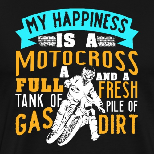 Motocross Happiness - Männer Premium T-Shirt
