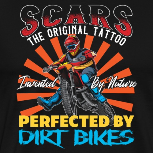 Motocross Scars Dirt Bike - Männer Premium T-Shirt