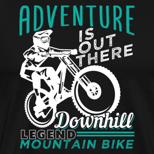 Adventure Downhill Mountain Bike - Männer Premium T-Shirt
