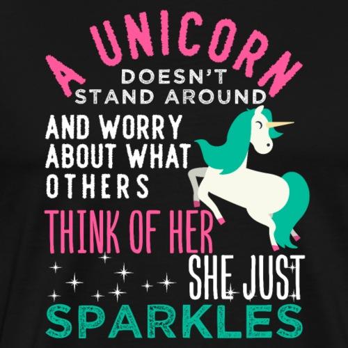 A Unicorn Doesn't Worry - Männer Premium T-Shirt