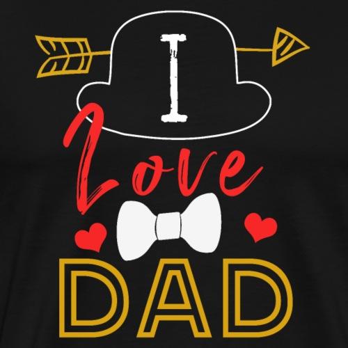 I Love Dad - Männer Premium T-Shirt
