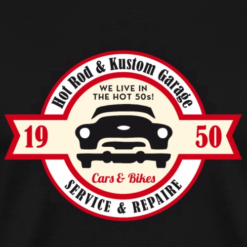 Hot Rod and Kustom Garage - Männer Premium T-Shirt
