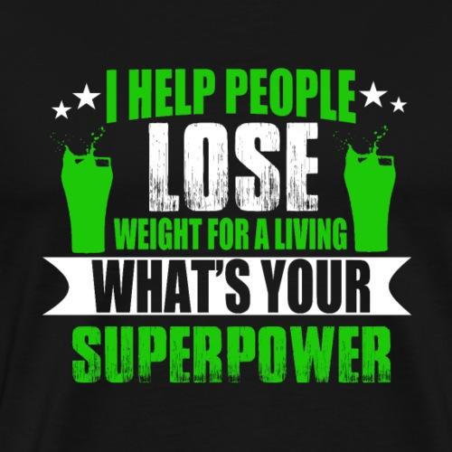 Gewicht Abnehmen Leben Helfe Menschen Körper Dick - Männer Premium T-Shirt