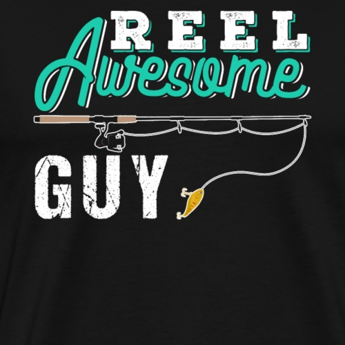 Reel Awesome Guy | Fishing - Männer Premium T-Shirt