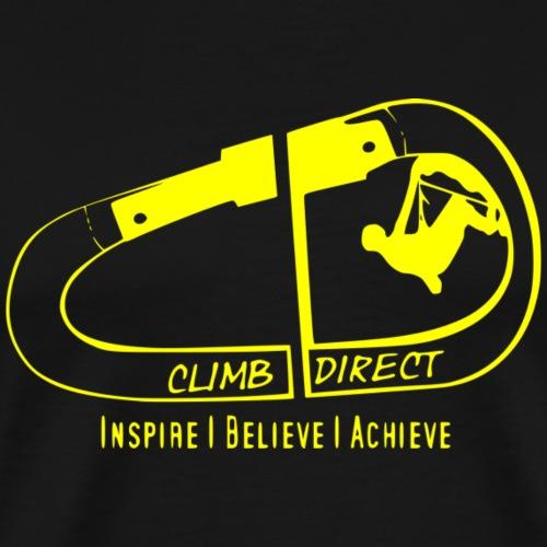 Inspire believe achieve yellow - Men's Premium T-Shirt