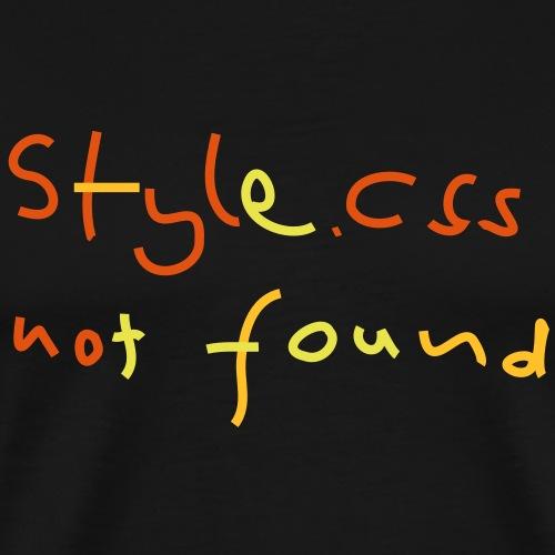 CSS Style Not Found - Männer Premium T-Shirt