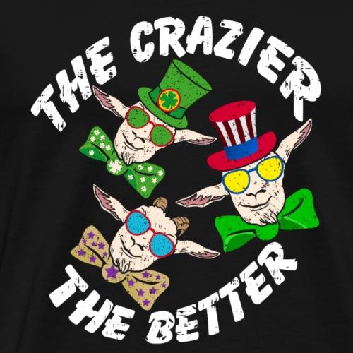 drei verrückte Ziegen | three crazy goats - Männer Premium T-Shirt