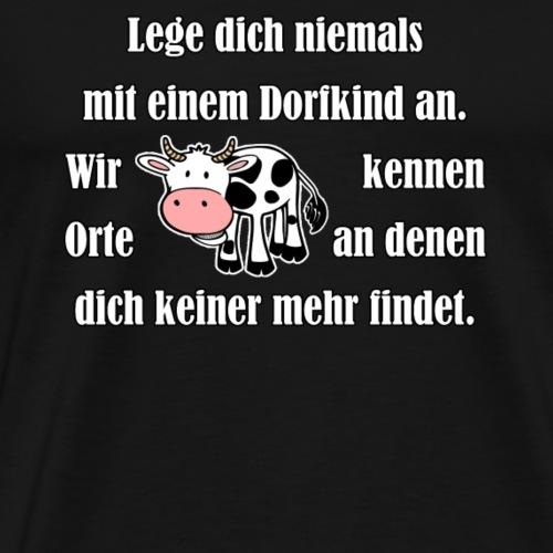 Dorfkind mit Kuh weiss - Männer Premium T-Shirt