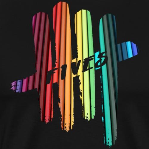 FIVES color stripes - T-shirt Premium Homme