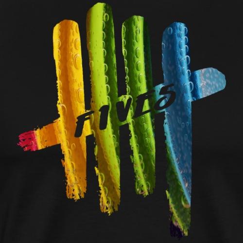FIVES color bubbles - T-shirt Premium Homme