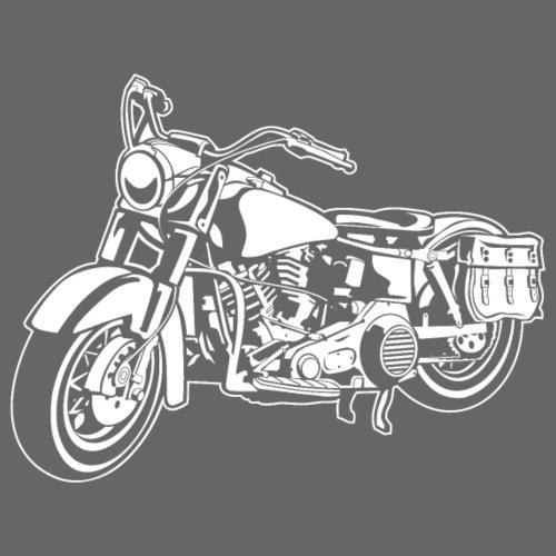 Chopper Motorrad 10_weiß - Männer Premium T-Shirt