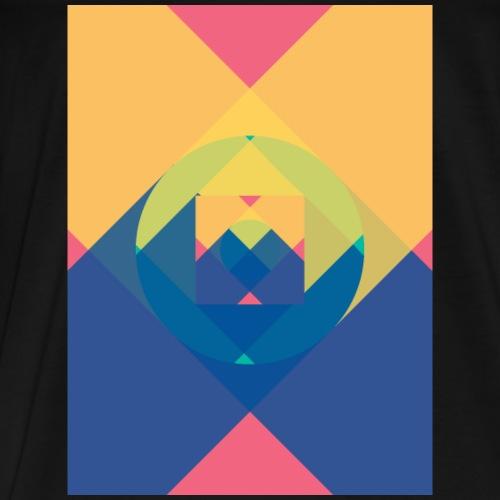 square and shadow - Männer Premium T-Shirt