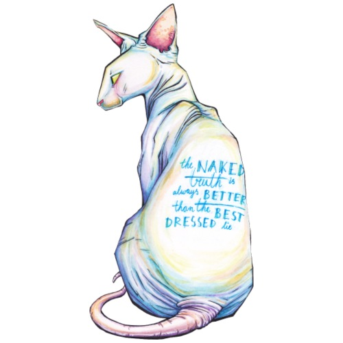The Naked Truth [sphinx cat print] - Mannen Premium T-shirt