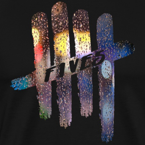FIVES color rain - T-shirt Premium Homme