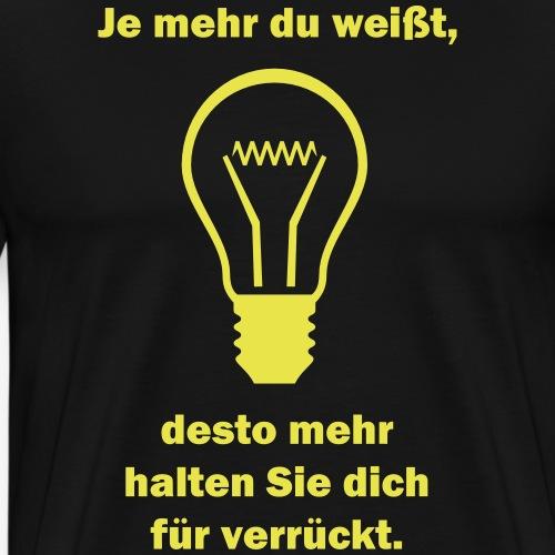 Wissen - T-Shirt - Männer Premium T-Shirt