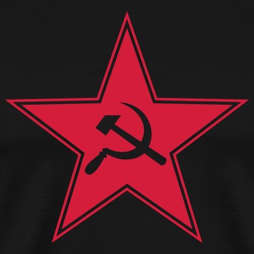 Sowjetstern mit Hammer u. Sichel - Männer Premium T-Shirt