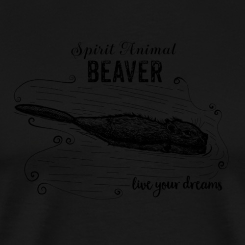 Spirit Animal Piber schwarz - Männer Premium T-Shirt