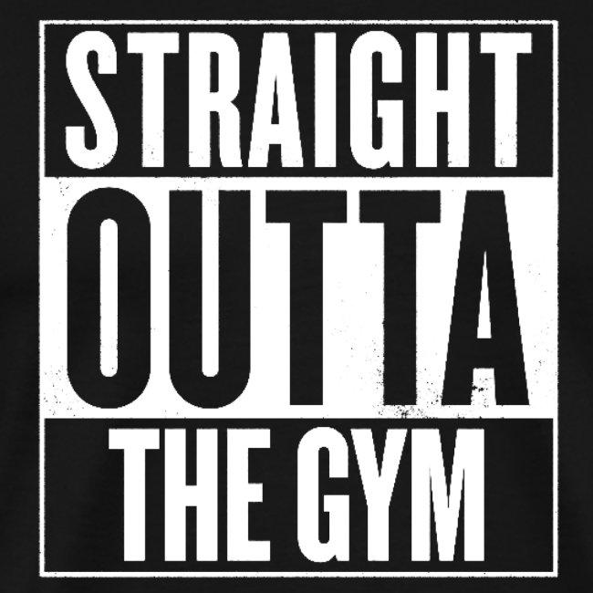 Straight Outta la gym Mens Gents Soft T-shirt Top Cadeau Unisexe 8 Couleurs