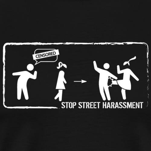 Stop street harassment: censored - Men's Premium T-Shirt