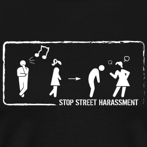 Stop street harassment: whistling - Men's Premium T-Shirt