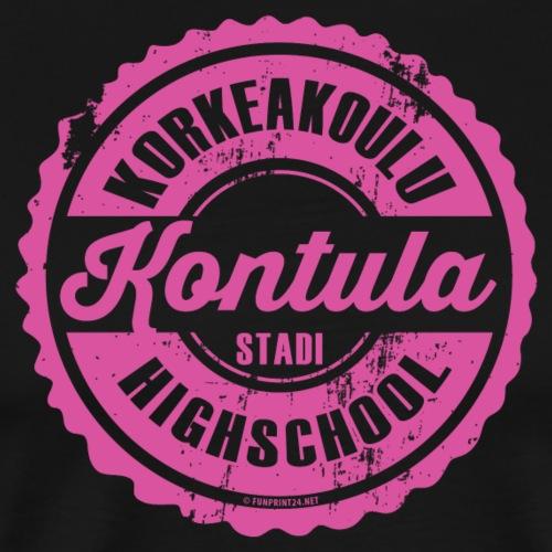 06P-KONTULAN KORKEAKOULU - Tekstiilit ja lahjat - Miesten premium t-paita