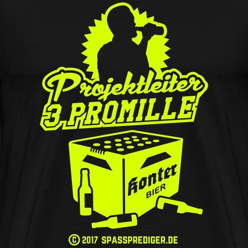 Projektleiter 3 Promille - Männer Premium T-Shirt