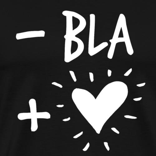 Meno bla più cuore B - Maglietta Premium da uomo
