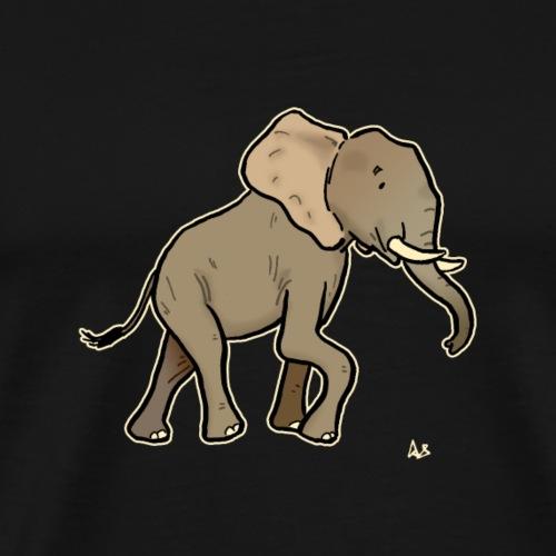 African Elephant (black edition) - Premium T-skjorte for menn