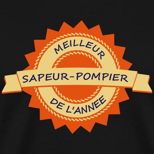 meilleur pompier blason - T-shirt Premium Homme
