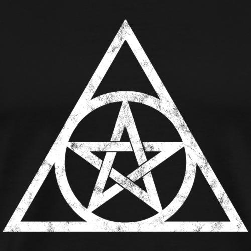 Pentagramm Auge Gottes Dreieck Magie Symbol Okkult - Männer Premium T-Shirt